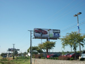Crain auto advertising billboard in Arkansas